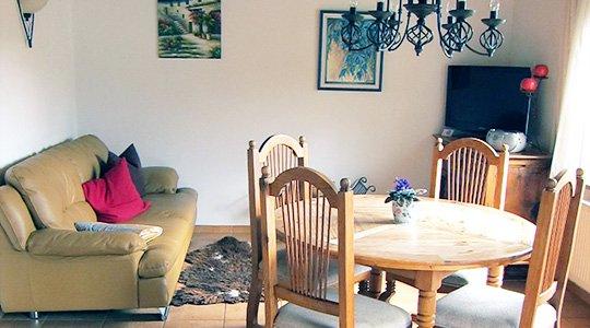 Ferienwohnung Oberwiesenthal Wohnzimmer Wohnung B